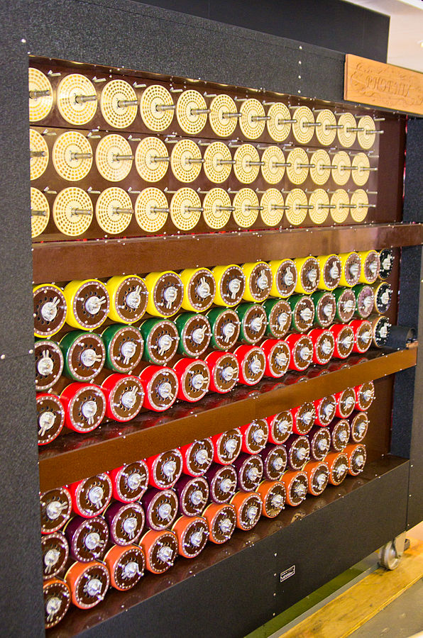 """Bletchley Park Bombe4"" by Antoine Taveneaux - Own work. Licensed under CC BY-SA 3.0 via Wikimedia Commons - http://commons.wikimedia.org/wiki/File:Bletchley_Park_Bombe4.jpg#mediaviewer/File:Bletchley_Park_Bombe4.jpg"